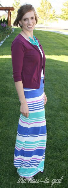 The How-To Gal: Fabric Stash: Easy Maxi Skirt