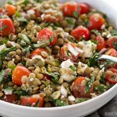 Marinated Lentil Salad is bright and flavorful, and infused with bold flavors like garlic and lemon. Step by step photos.