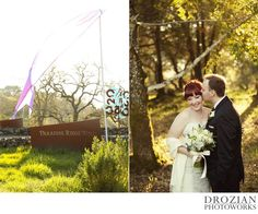 Paradise Ridge is such a gorgeous place for a wedding! #winterwedding #ParadiseRidgeWinery #Drozian #Photoworks
