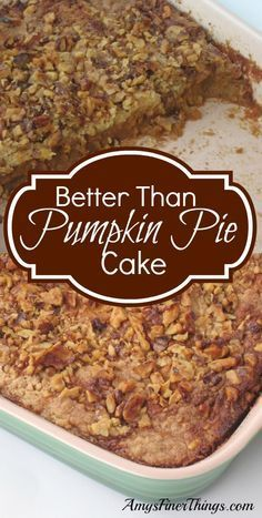 Better Than Pumpkin Pie Cake has been a family favorite for years. (PS ~ It's *easier* than pumpkin pie, too!)