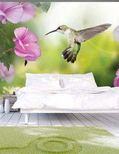 Carta da Parati Colibrì Carta da Parati Fotomurale a Tema Natura con Animali