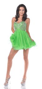 #459C-Green Strapless Short Cocktail Dress (Size 4 to 14-3 Colors)