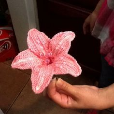 Crochet lily I made very pretty