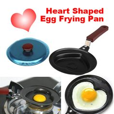 1pcs Mini Heart Shaped Non-sticky Egg Frying Pan Stainless Steel Pan fast shipping PTSP