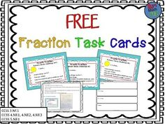 These are FREE hands-on math task cards that use the relationships between Pattern Blocks to build and challenge fraction knowledge. The activities are not only fun and engaging, but they help kids learn independently!Each activity allows for individual creativity while building student understanding of fractions!