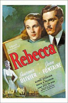 "Cartel de ""Rebecca"" de Alfred Hitchkock"