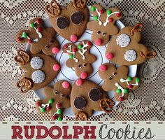 Instructions, tips, and ideas for making Rudolph the Red-Nosed Reindeer Christmas cookies using cookie cutters you might already have.  These looks are easy to create and great for children.