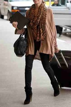 Relaxed layers with black skinnies.