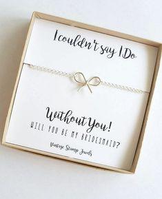 Bridesmaid Gift/Silver Bow Bracelet/ Silver by vintagestampjewels