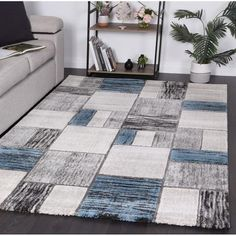 High quality modern machine made rugs Modern Rugs, Modern Contemporary, Moroccan Design, Machine Made Rugs, Round Rugs, Weaving Techniques, Nordic Style, Living Room Modern, Woven Rug