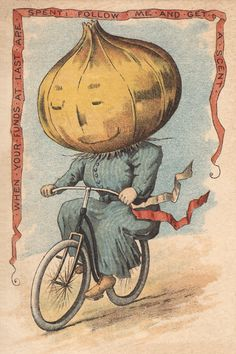 BicycleGifts.com - Onion Vegetable Rider Poster, $12.00 (http://www.bicyclegifts.com/onion-vegetable-rider-poster/)