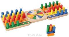 Bartl, Zuordnungsspiel Farben, Tolles Familienspiel aus Holz für 1-2 Spieler oder Teams | 110913