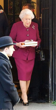 Queen Elizabeth II seen leaving The Goring hotel in Belgravia after her staff's Christmas Party. Dec. 12, 2017