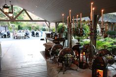 Our open air pavilion is perfect for your wedding reception at Hawkesdene House