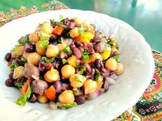 This high fiber, three bean salad is low glycemic, really delicious and easy to…