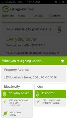 EnergyAustralia Digital Sales Experience for Mobile - Mobile Awards