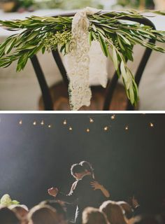 bash, please:love the flowers with lace & the night time dancing photo. Gorgeous!