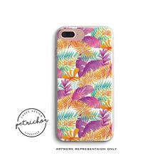 Tropical Leaf iPhone Case - iPhone 7 Case - iPhone 7 Plus Case - iPhone 6 Case - iPhone 8 Case - iPhone X Case - iPhone 8 Plus Case by PetrichorCases on Etsy Iphone 7 Plus Cases, Iphone 6, Tropical Leaves, 6 Case, Artwork, Etsy, Work Of Art