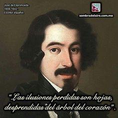 #EfemérideLiteraria En 1808 nace #JosédeEspronceda #Literatura #Poesía #CancióndelPirata www.sombradelaire.com.mx