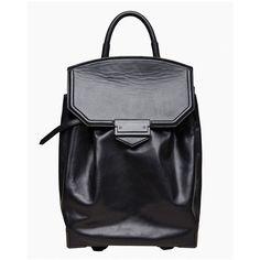 Alexander Wang Prisma Skeletal Backpack (31.020 UYU) ❤ liked on Polyvore featuring bags, backpacks, backpack, black, alexander wang oxford, backpack bags, leather backpack, leather rucksack and alexander wang