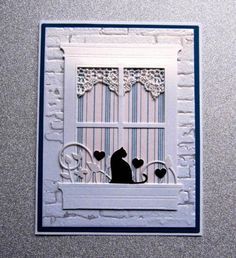 by - Cards and Paper Crafts at Splitcoaststampers Stampin Up Karten, Stampin Up Cards, Memory Box Cards, Window Cards, Embossed Cards, Cat Cards, Animal Cards, Card Making Inspiration, Creative Cards
