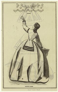 In the Swan's Shadow: Quickies: Fashion Illustrations from the Month of November Civil War Hairstyles, November Month, Civil War Fashion, Morning Dress, Victorian Women, Victorian Dresses, Civil War Dress, European American, Historical Clothing