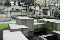 Freeway Park Seattle. 1976 by Lawrence Halprin 1916-2009 & Associates   http://en.wikipedia.org/wiki/Lawrence_Halprin