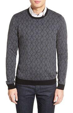 Ted Baker London 'Lochee' Jacquard Crewneck Sweater