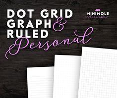 Personnel Dot grille papier quadrillé par MinimolePrintables