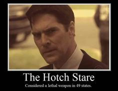 The Hotch stare!! ;-) always so serious
