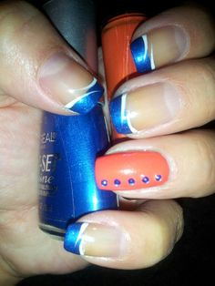 Nfl denver bronco nails denver broncos nails pinterest more denver broncos nailz prinsesfo Gallery