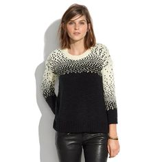 gift guide for her (and hair for me): driftstitch sweater. (use code FEAST25 for 25 percent off.)
