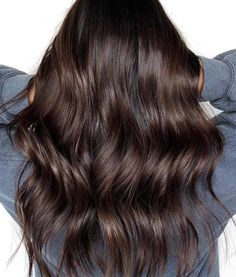Trendy Hair Color & Balayage : dark chocolate hair color - All For Hair Color Trending Dark Chocolate Hair Color, Hair Color Dark, Hairstyles Haircuts, Cool Hairstyles, Edgy Haircuts, Layered Haircuts, Short Hairstyle, Scarf Hairstyles, Medium Hair Styles