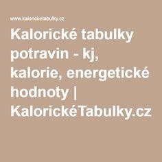 Kalorické tabulky potravin - kj, kalorie, energetické hodnoty | KalorickéTabulky.cz