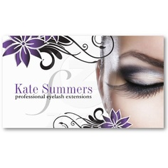 Customizable Eye Lash Extensions Business Cards.