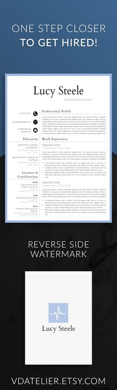 Nurse resume template for modern professionals Suitable as - medical resume