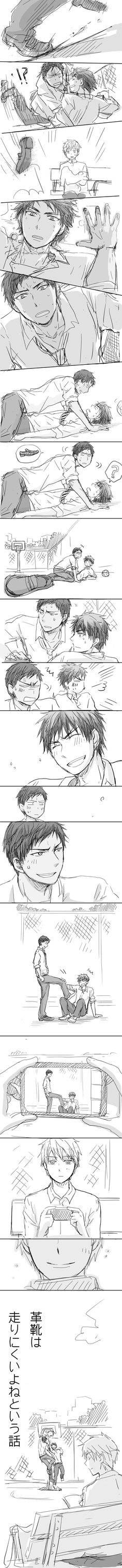 Oh, Kuroko... :') so proud of you, darlin.   [AoKaga / Bromance / SO CUTE / OT3 / Kuroko no Basuke / Humor Comic]