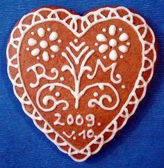 esküvői mézeskalács - Hungarian gingerbread heart for wedding
