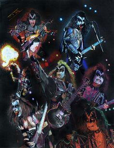 Gene Simmons collage prisma by choffman36.deviantart.com on @deviantART