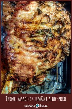 Melhor época para comprar e assar um pernil, apesar de não ser final do ano! ❤️ Aí embaixo tem uma receita bem gostosa! Pernil, Pork, Meat, Recipes, Kale Stir Fry, Pork Chops