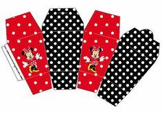 Minnie Rojo: Cajas para Imprimir Gratis.