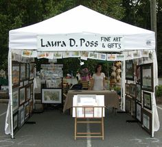 Booth Upgrade, Step A New Display Canopy! Craft Show Booths, Craft Booth Displays, Craft Show Ideas, Craft Show Booth Display Ideas Layout, Photography Booth, Stand Feria, Art Shed, Art And Craft Shows, Craft Stalls