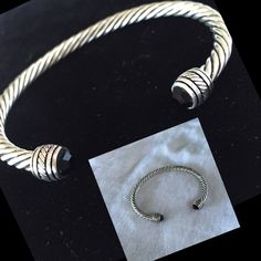 """'Got to Have It' cuff bracelet. NEW Antiqued silver plated 7"""" cuff bracelet with black crystals. Able to be polished. Premier Designs High Quality. Complement with other pieces for bundle discount. Premier Designs Jewelry Bracelets"""