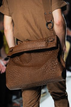 Tired of your everyday sling bag?  Give it an update with some luxe texture via Bottega Veneta's SS13 Collection!