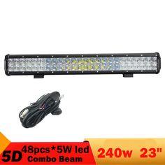5D 240W 23 Inch Led Light Bar For Jeep Grand Cherokee Light 4X4 4WD Combo Offroad Driving ATV UTV Pickup Truck SUV Headlight