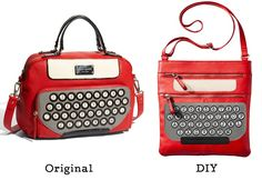 Get the look of this chic typewriter purse from Kate Spade by DIYing it with machine embroidery and applique.