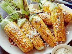Grilled Corn on the Cob with Chili-Lime Butter and Cotija Cheese