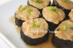 Something quick, simple and healthy for lunch or dinner. This dish goes great with rice. Ingredients: 2 sheets nori seaweed Filling: ...