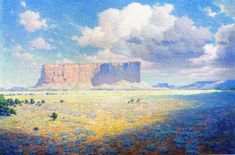 william leigh | ... - Arizona Landscape with Two Riders (William Robinson Leigh - 1911