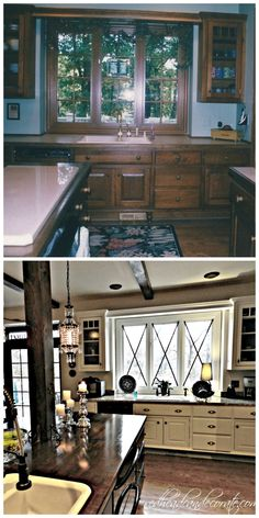 DIY Kitchen Makeover w/ Redhead Can Decorate #paint #kitchen #cabinets Absolutely LOVE this kitchen!!!